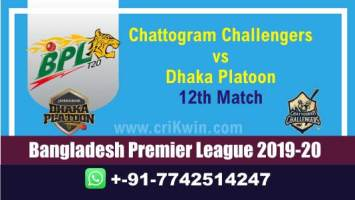 BPL 2019-20 Today Match Prediction DHP vs CCH 12th 100% Sure Win