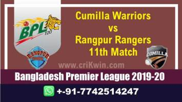 BPL 2019-20 Today Match Prediction RAN vs CUW 11th 100% Sure Win