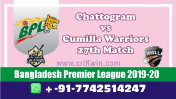 BPL 2020 Today Match Prediction CUW vs CCH 27th 100% Sure Win