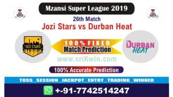 MSL 2019 Today Match Prediction DUR vs JOZ 27th Who Will Win