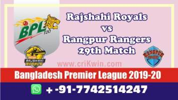 BPL 2020 Today Match Prediction RAN vs RAR 29th 100% Sure Win
