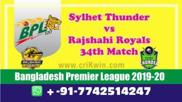 BPL 2020 Today Match Prediction RAR vs SYL 34th 100% Sure Win