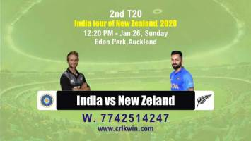 2nd t20 Ind vs NZ cricket win tips