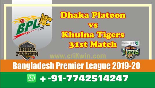 BPL 2020 Today Match Prediction KHT vs DHP 31st 100% Sure Win