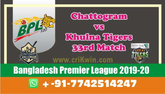BPL 2020 Today Match Prediction KHT vs CCH 33rd 100% Sure Win