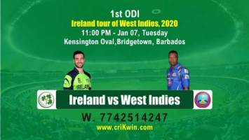 Today Match Prediction WI vs IRE 1st ODI 100% Sure Win 7 Jan 2020