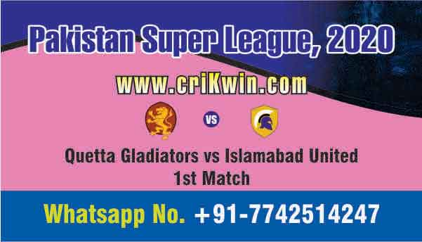 Today Match Prediction QUE vs ISL PSL 1st T20 100% Sure Win Tips