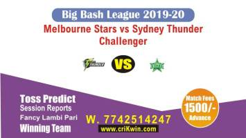 BBL 2019-20 THU vs STA Challenger Today Match Prediction Sure Win