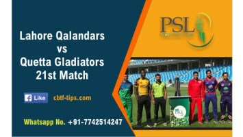 100% Sure Today Match Prediction QUE vs LAH 21st PSL T20 Win Tips