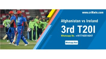 100% Sure Today Match Prediction AFG vs IRE 3rd T20 Win Tips