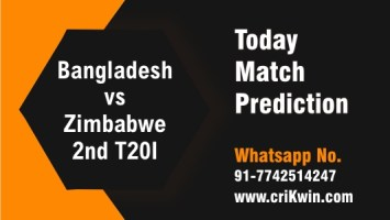 100% Sure Today Match Prediction Ban vs Zim 2nd T20 Win Tips