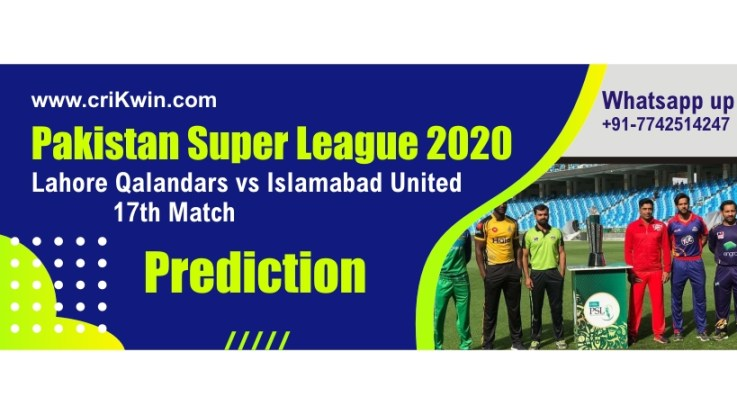 Sure Today Match Prediction Lahore vs Islamabad 17th PSL T20 Win Tips