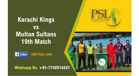 100% Sure Today Match Prediction MUL vs KAR 19th PSL T20 Win Tips
