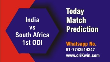 100% Sure Today Match Prediction RSA vs IND 1st International ODI Win