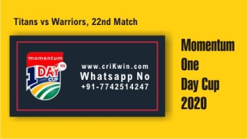 100% Sure Today Match Prediction WAR vs TIT 22nd ODI Win Tips