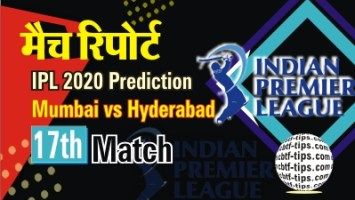 100% Sure Today Match Prediction SRH vs MI IPL T20 Win Tips