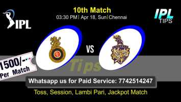 Today Match Prediction Kolkatta vs Bangalore 10th Match Who Will Win IPL T20 100% Sure? KKR vs RCB Indian Premier League Predictions