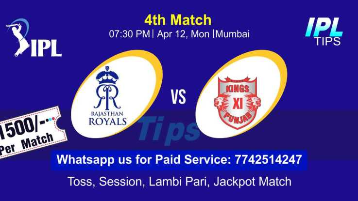 Today Match Prediction Punjab vs Rajasthan 4th Match Who Will Win IPL T20 100% Sure? KXIP vs RR Vivo Indian Premier League Predictions