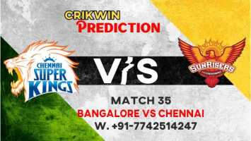 IPL 2021 RCB vs CSK 35th 100% Sure Today Match Prediction Win Tips