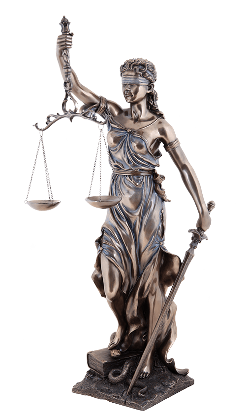statue of justice criminal defense attorney