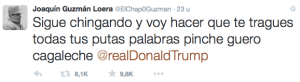 Tweet 'El Chapo' Donald Trump