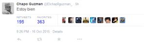 Guzmán is in orde (estoy bien)