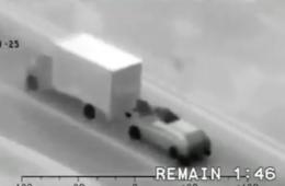 roof vrachtwagens video, vrachtwagen rijdend beroofd, lading diefstal video
