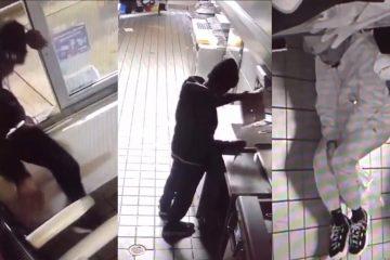 VIDEO: Man breekt in bij fastfoodzaak Taco Bell, maakt eten en doet heerlijk dutje