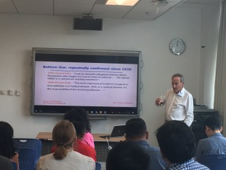 Rob teaching in our Human Rights and Drug Policy Workshop 2017