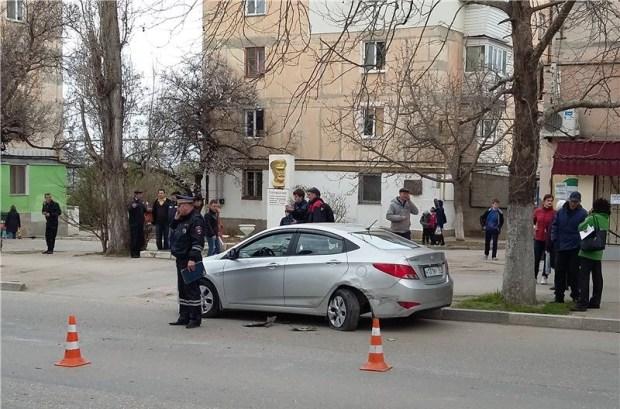 ДТП в Севастополе: машина-«перевёртыш»