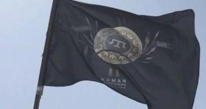 Украина и Крым: на границе - флаг батальона Номана Челебиджихана