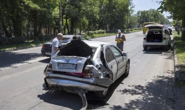 Симферополь: новый ЛИАЗ попал в аварию... с почином...