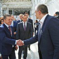 Гости стенда Крыма на форуме «Сочи-2016» Дмитрий Козак и Рамзан Кадыров