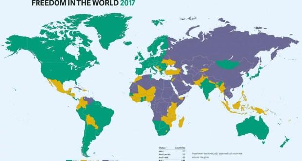 Очередная карта Украины без Крыма. На этот раз от «Freedom House»