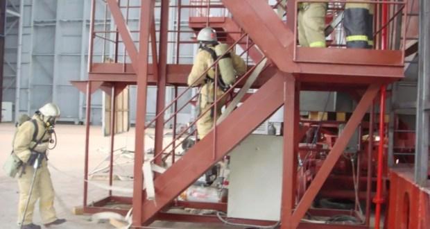 Учения МЧС: «пожар» на феодосийском заводе «Море»