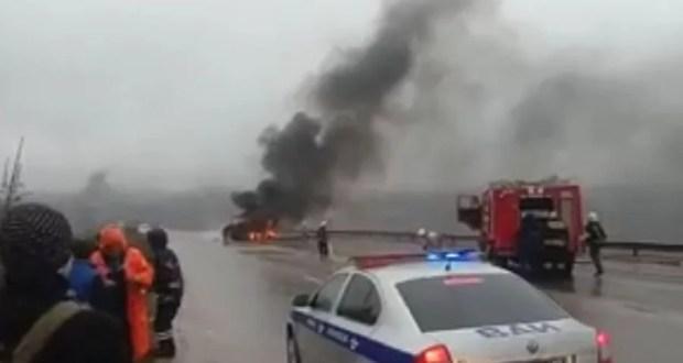 Под Симферополем сгорел бензовоз. Водитель погиб