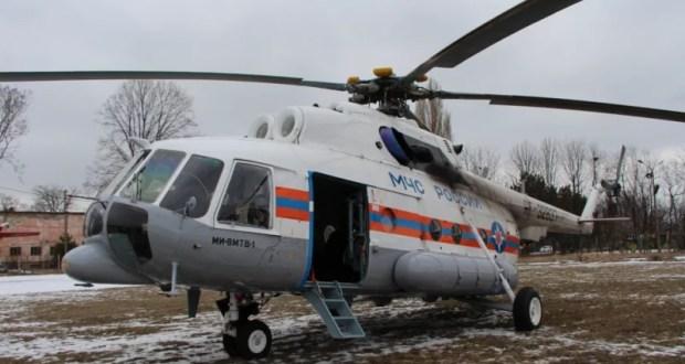 В небе Крыма – новый многоцелевой вертолет МЧС России МИ-8