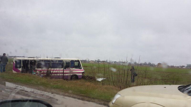 ДТП на 30 км трассы «Симферополь – Джанкой». ВАЗ столкнулся с автобусом, семеро пострадавших