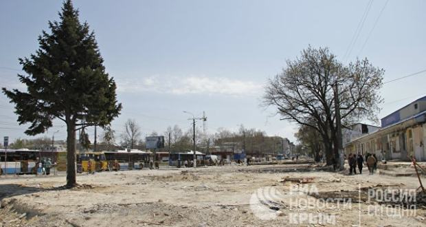 На территории у Центрального рынка Симферополя будет зелёная зона и детская площадка