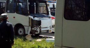 столкновение автобусов в Крыму