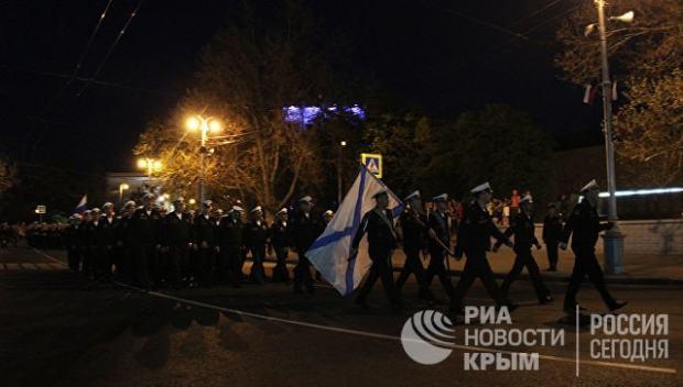 В Севастополе прошла первая репетиция Парада Победы