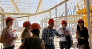 Студенты посетили стройплощадку нового терминала аэропорта «Симферополь»