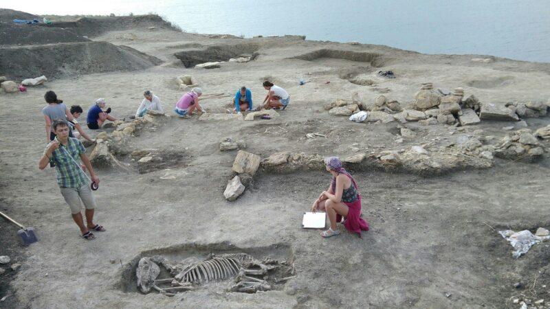ВКрыму нашли останки ребенка свытянутым черепом