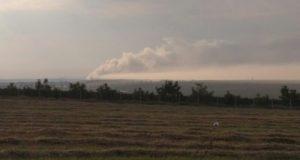 В Бахчисарайском районе горит свалка