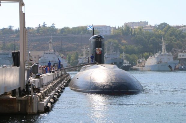 """Севастополь встретил подводную лодку """"Краснодар"""". Прибыла к месту постоянного базирования"""