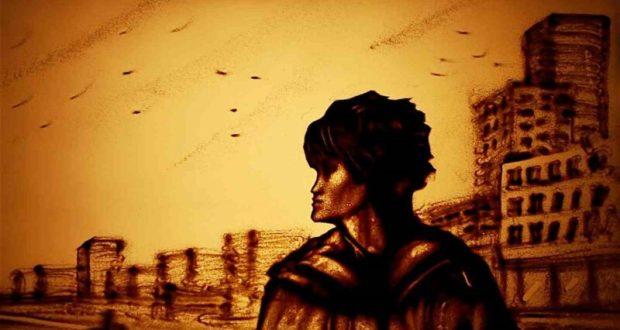 Песочный фильм «Стук» памяти Виктора Цоя от художницы Ксении Симоновой