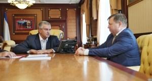 Сергей Аксёнов встретился с главой администрации Симферополя Игорем Лукашёвым.