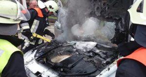 В воскресенье в Крыму горели машины