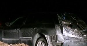 Ночной «перевертыш» «Volkswagen Jetta» под Севастополем