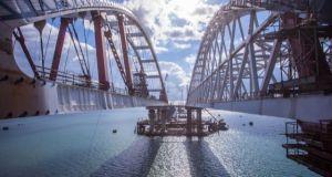 Керченский мост построен более чем на 50%